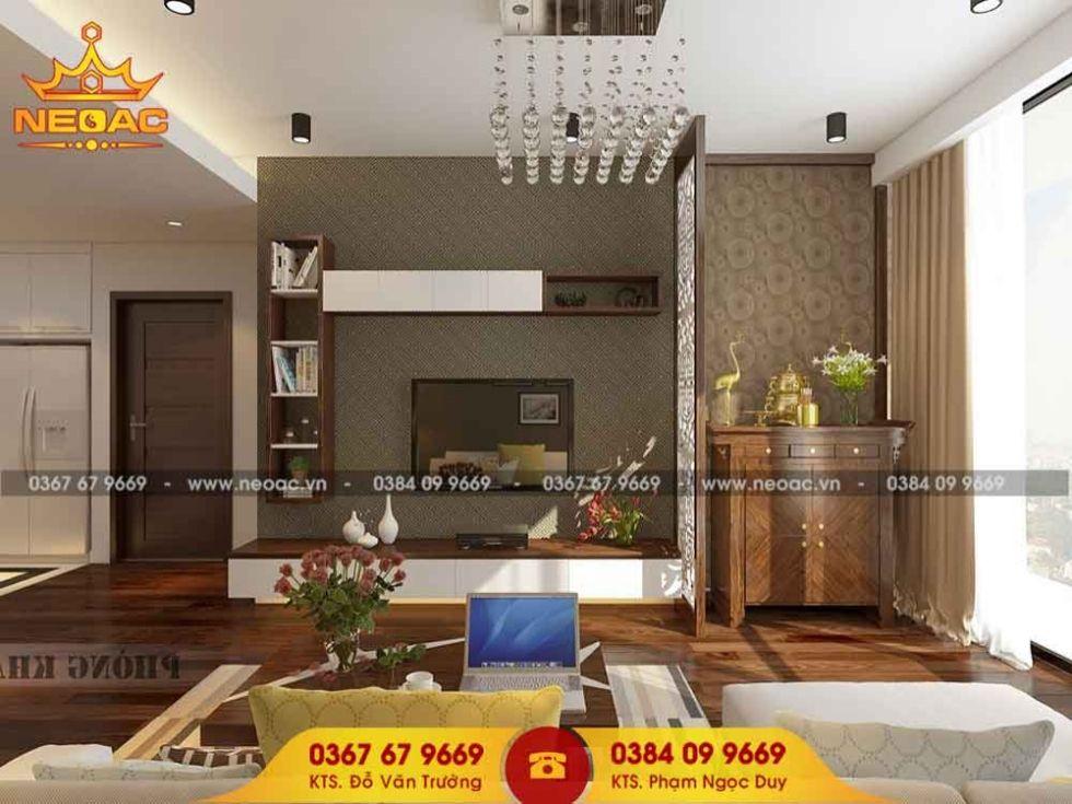 Mẫu nội thất nhà phố 2 tầng tại Nam Từ Liêm, Hà Nội