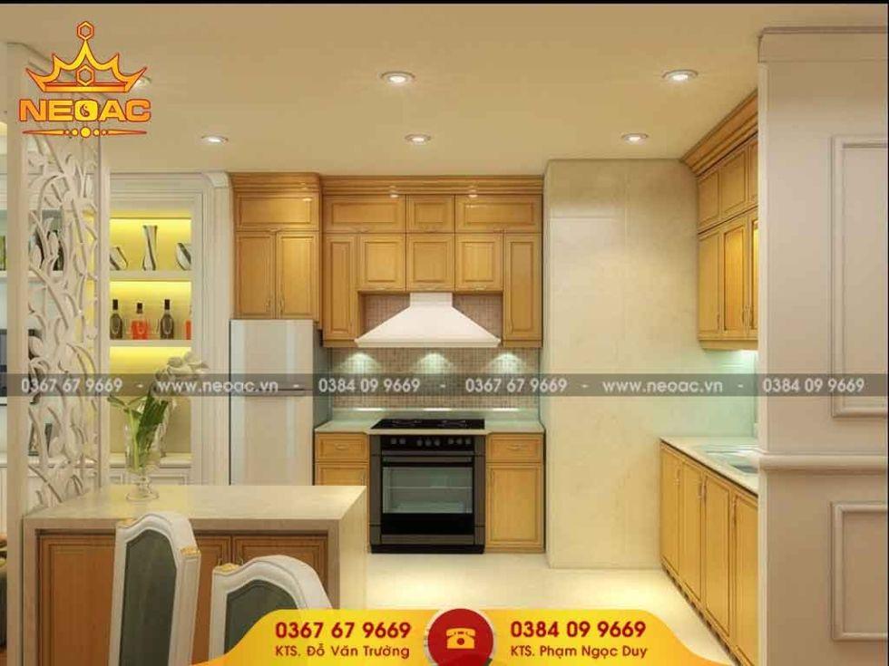 Mẫu nội thất phòng bếp nhà phố 2 tầng
