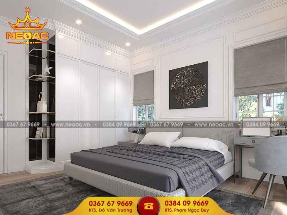 Mẫu nội thất phòng ngủ nhà phố 2 tầng