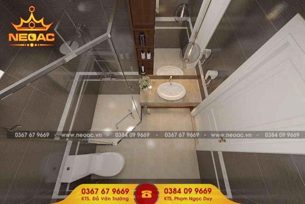 Mẫu nội thất phòng vệ sinh nhà phố 2 tầng