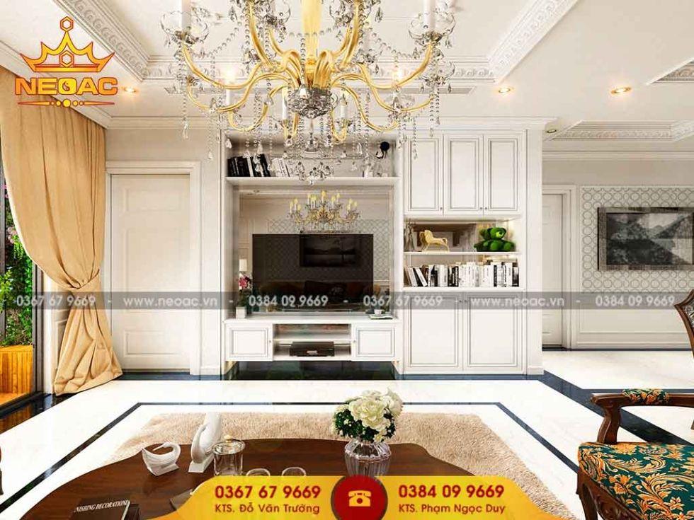 Công ty thiết kế nội thất nhà phố 2 tầng tại Đống Đa, Hà Nội