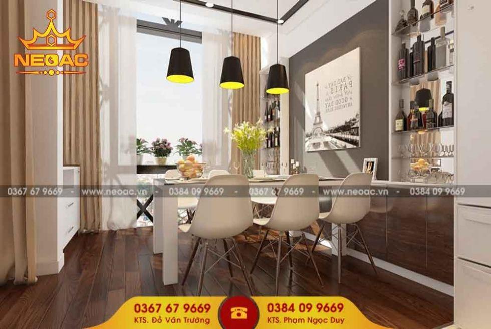 Công ty thiết kế nội thất nhà phố 2 tầng tại Ba Đình, Hà nội