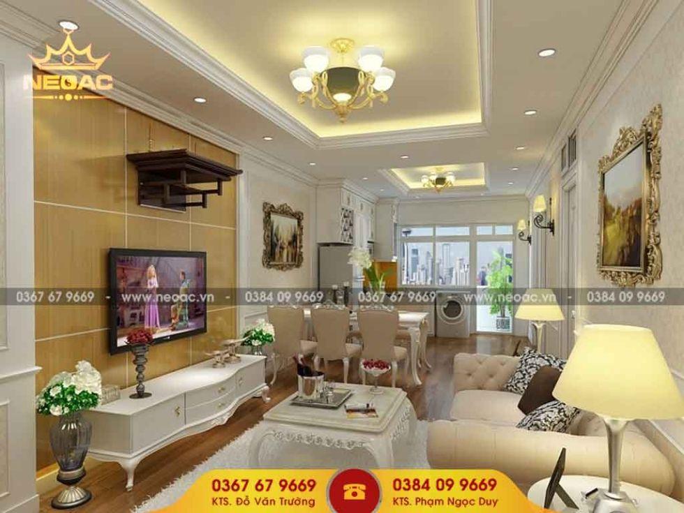 Công ty thiết kế nội thất nhà phố 2 tầng tại Cầu Giấy, Hà Nội