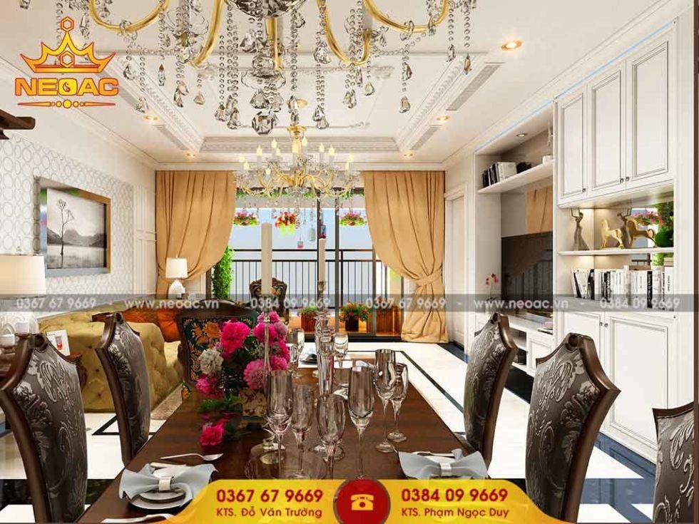 Mẫu nội thất nhà phố 2 tầng tại Ba Đình, Hà Nội