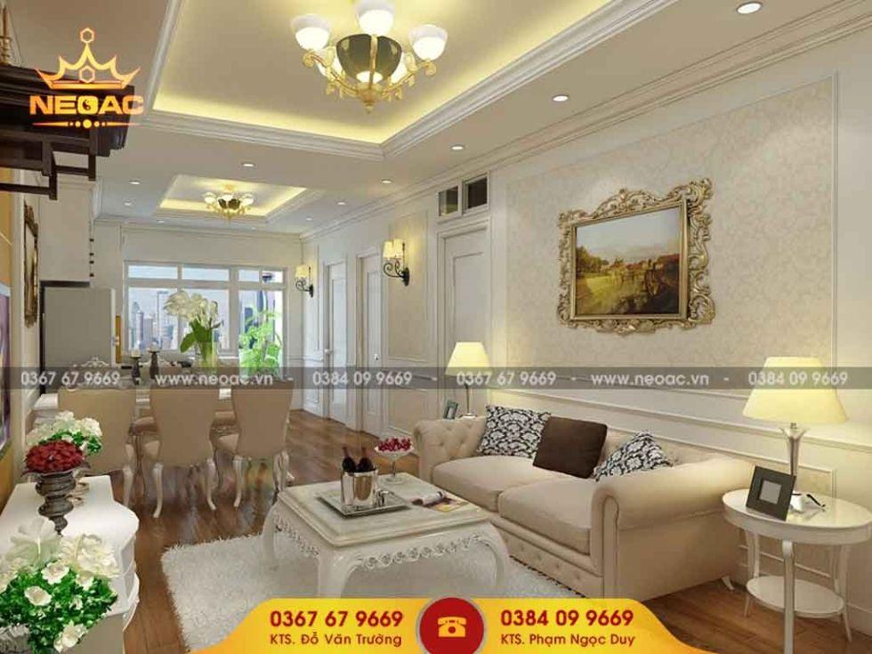 Công ty thiết kế nội thất nhà phố 2 tầng tại Hà Đông, Hà Nội