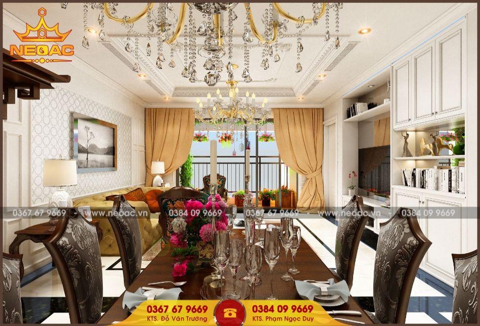 Mẫu nội thất nhà phố 2 tầng tại Đống Đa, Hà Nội
