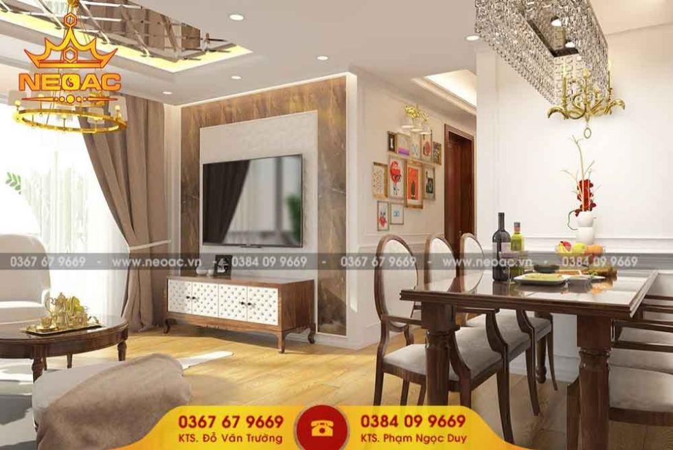 Công ty thiết kế nội thất nhà phố 2 tầng tại Long Biên, Hà Nội