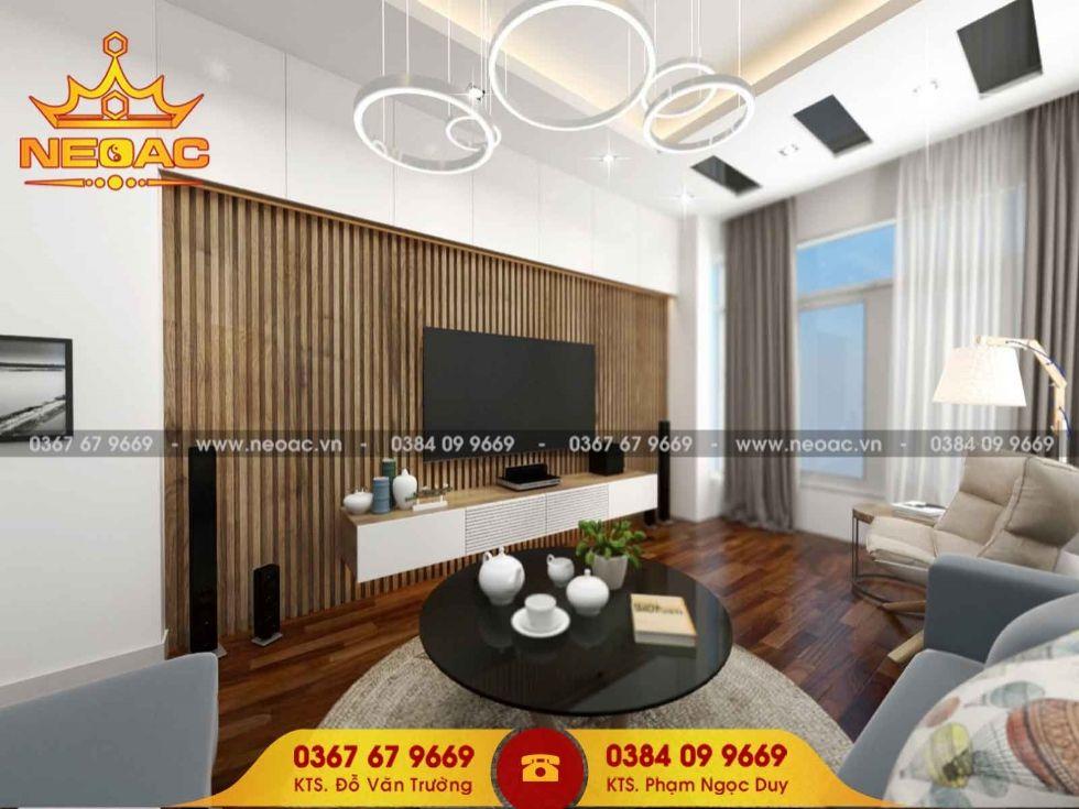 Công ty thiết kế nội thất nhà phố 2 tầng tại Nam Từ Liêm, Hà Nội
