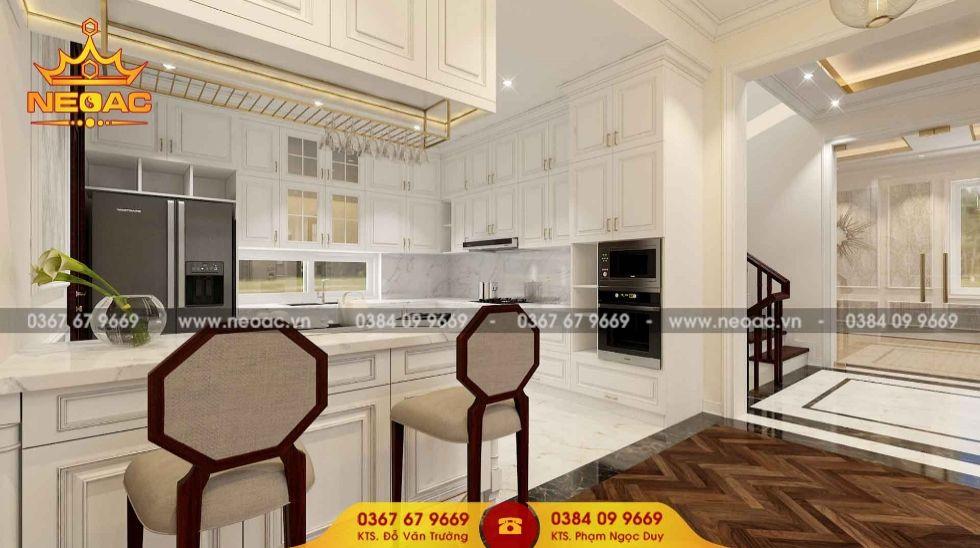 Mẫu nội thất phòng bếp nhà phố 3 tầng