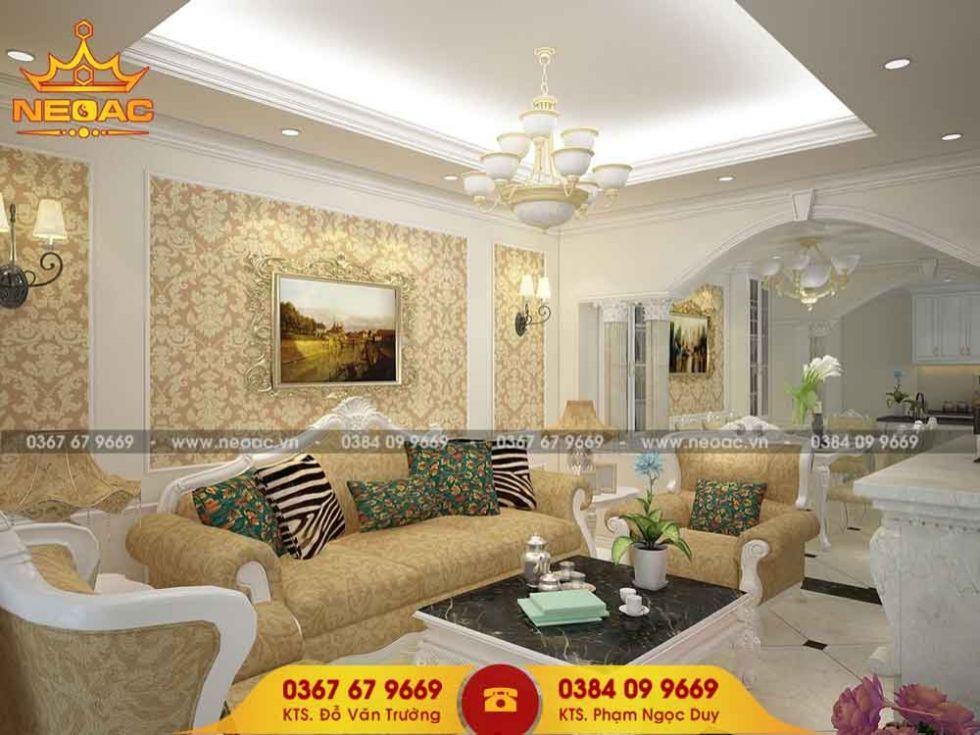 Công ty thiết kế nội thất nhà phố 3 tầng tại Hai Bà Trưng, Hà Nội