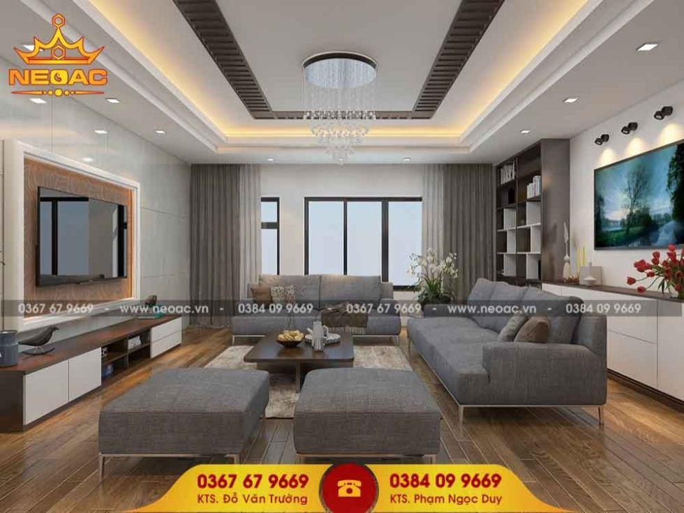 Công ty thiết kế nội thất nhà phố 3 tầng tại Nam Từ Liêm, Hà Nội