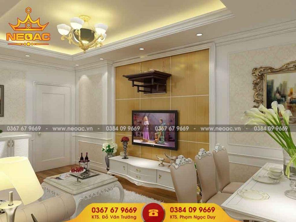 Công ty thiết kế nội thất nhà phố 3 tầng tại Hoàng Mai, Hà Nội