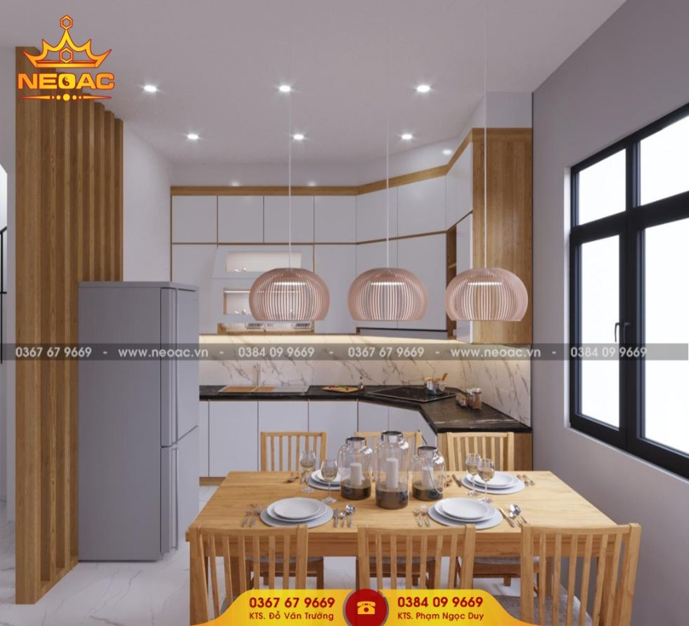 Công ty thiết kế nội thất nhà phố 4 tầng tại Cầu Giấy, Hà Nội