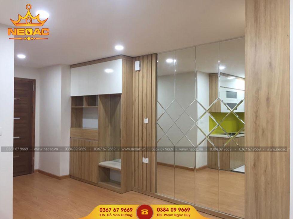 Công ty thiết kế nội thất nhà phố 4 tầng tại Hoàng Mai, Hà Nội