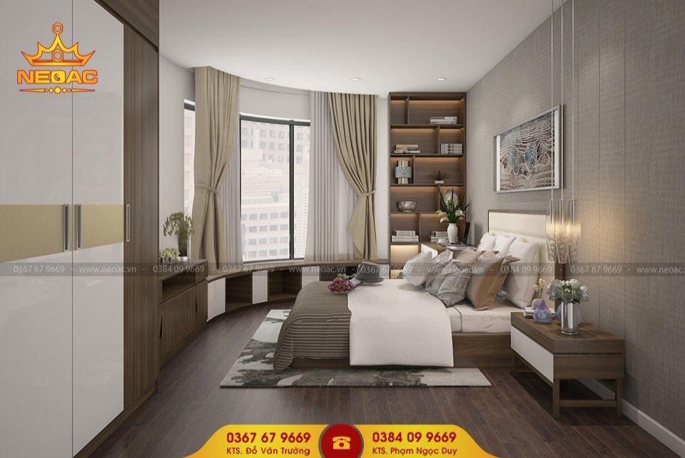 Mẫu nội thất phòng ngủ nhà phố 5 tầng