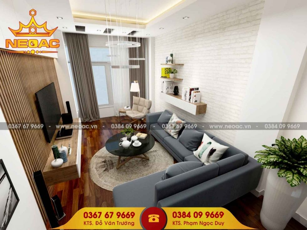 Công ty thiết kế nội thất nhà phố 5 tầng tại Long Biên, Hà Nội