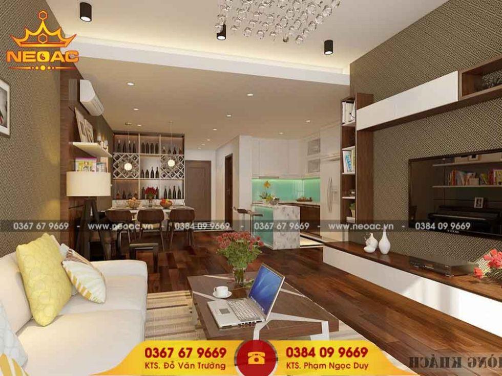 Mẫu nội thất nhà phố 5 tầng tại Hoàng Mai, Hà Nội