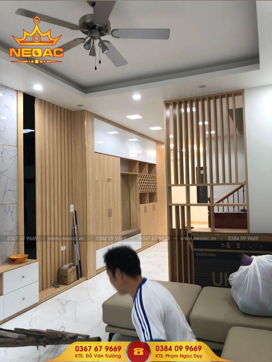 Mẫu nội thất nhà phố 5 tầng tại Long Biên, Hà Nội