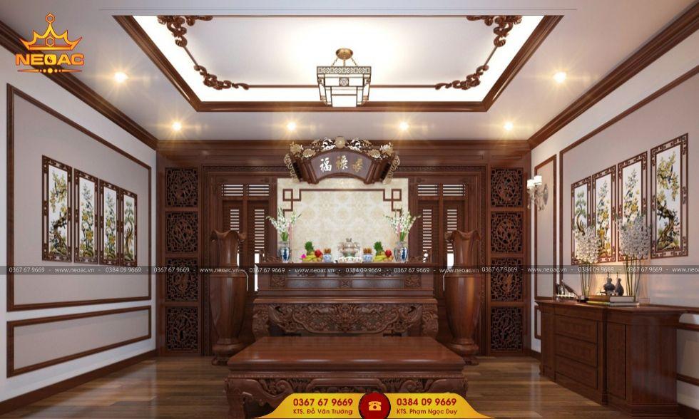 Mẫu nội thất nhà phố 3 tầng tại Hoàng Mai, Hà Nội