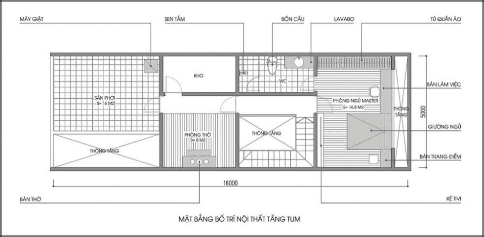 Xin Bản vẽ kiến trúc nhà 1 tầng 80m2?