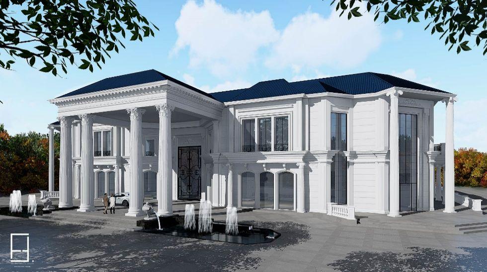 Mẫu biệt thự 2 tầng cổ điển