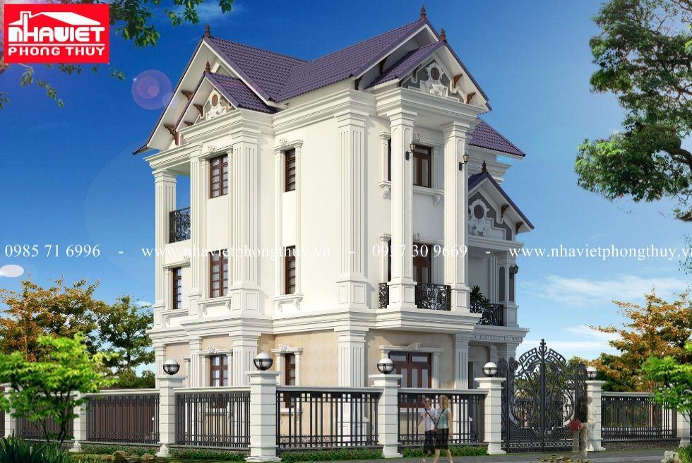 Mẫu biệt thự 3 tầng mái thái