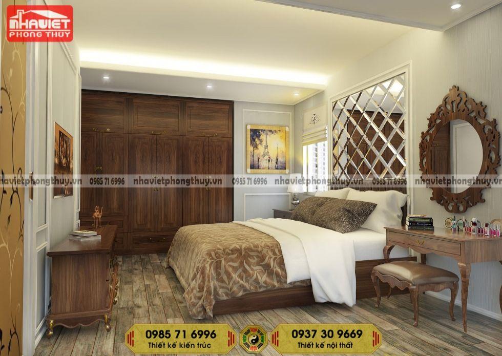 Mẫu thiết kế nội thất chung cư tân cổ điển 2 phòng ngủ