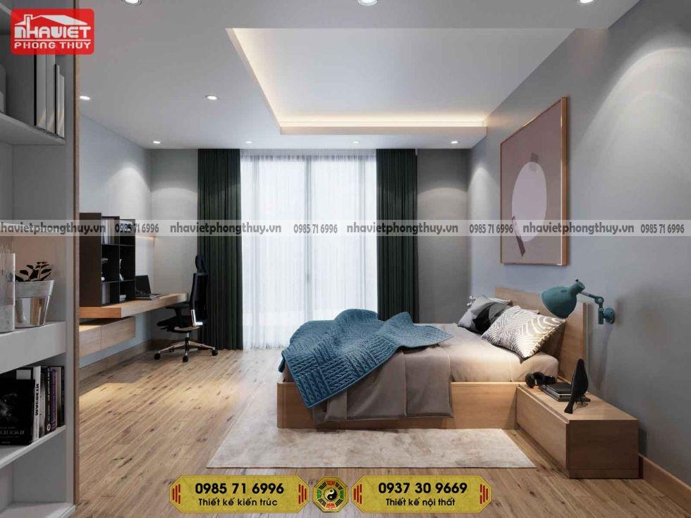 Mẫu thiết kế nội thất chung cư hiện đại 2 phòng ngủ 70m2