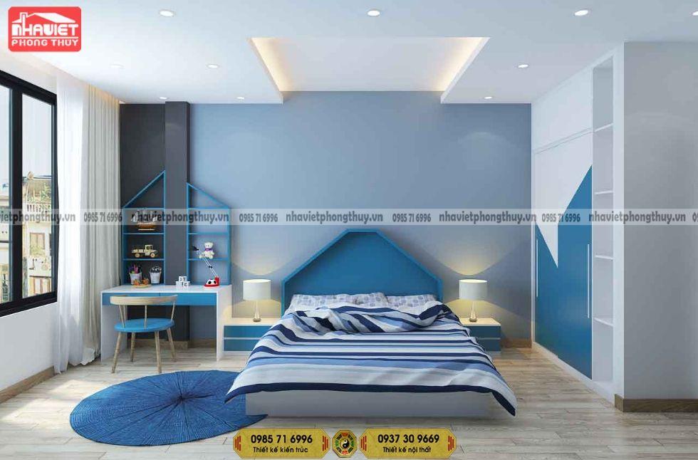Mẫu thiết kế nội thất chung cư hiện đại 80m2 2 phòng ngủ