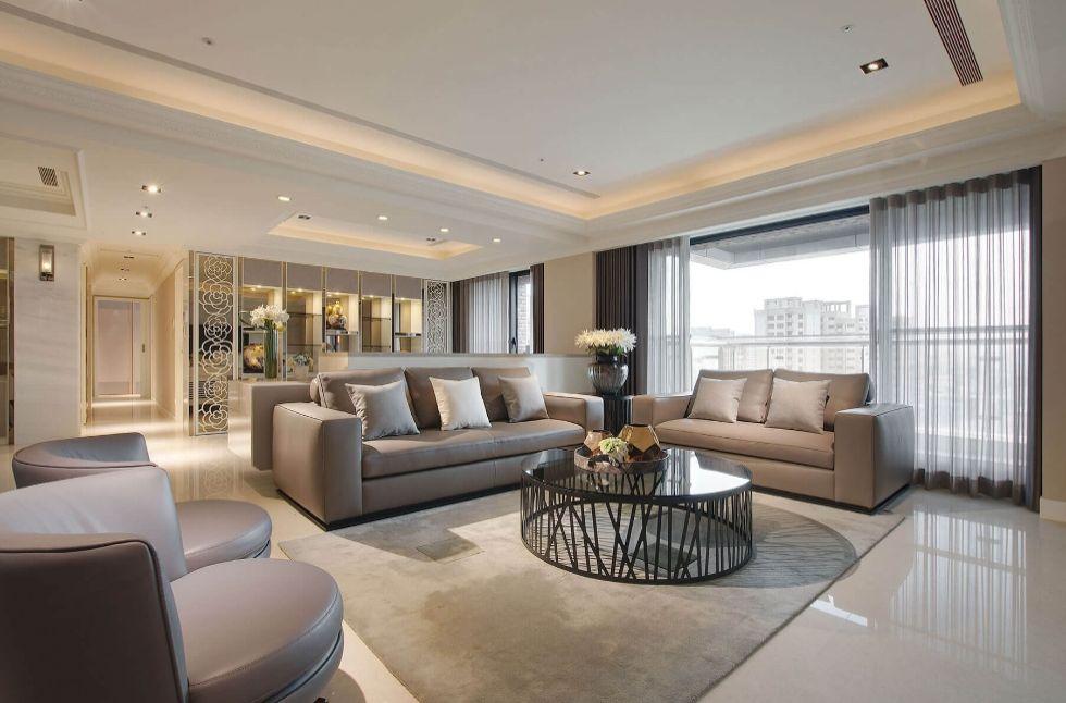 Mẫu thiết kế nội thất chung cư hiện đại 90m2 2 phòng ngủ