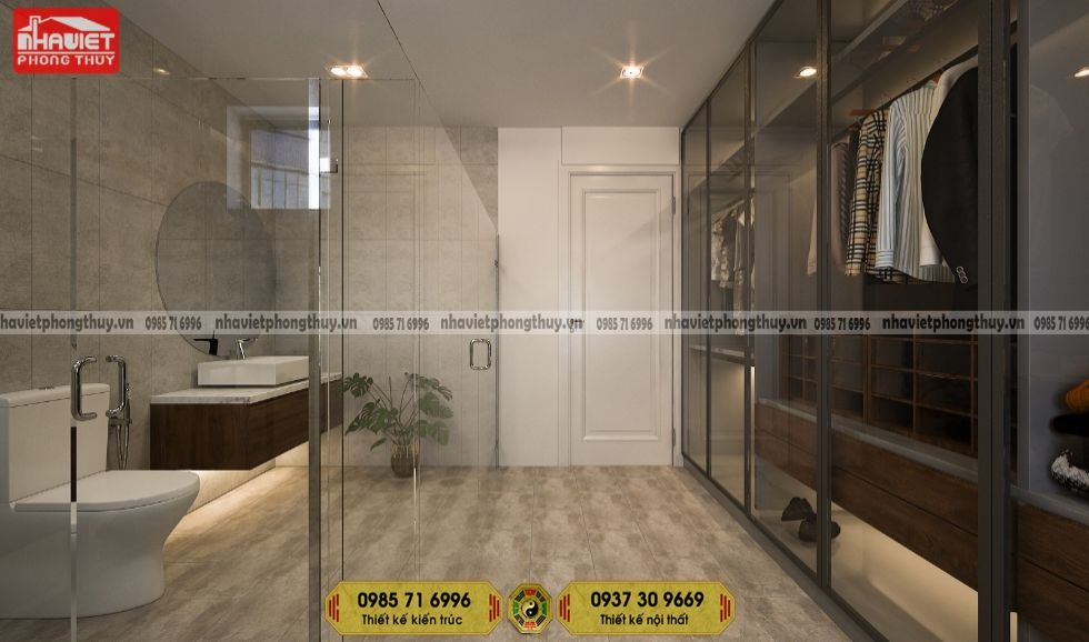 Mẫu thiết kế nội thất chung cư hiện đại 95m2 3 phòng ngủ