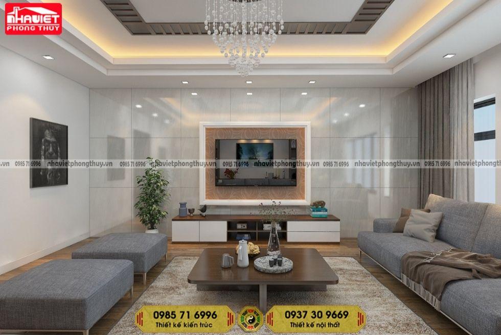 Mẫu thiết kế nội thất chung cư hiện đại 105m2 3 phòng ngủ