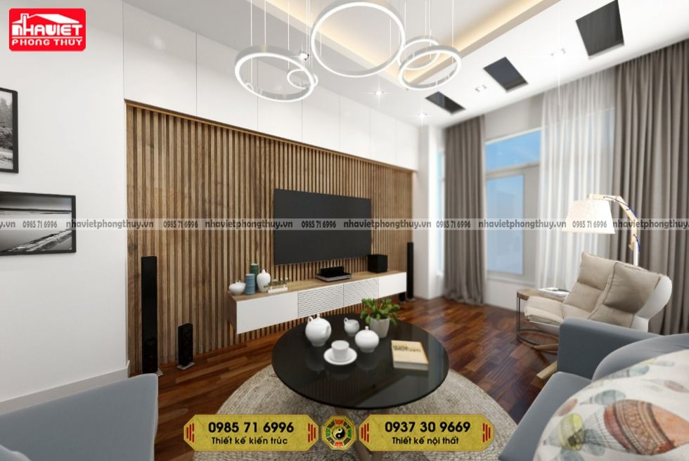 Mẫu thiết kế nội thất chung cư hiện đại 110m2 3 phòng ngủ