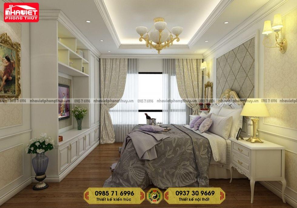 Mẫu thiết kế nội thất chung cư tân cổ điển 3 phòng ngủ 95m2 100m2