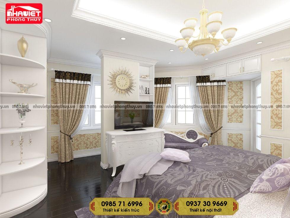 Mẫu thiết kế nội thất chung cư tân cổ điển 3 phòng ngủ 115m2 120m2