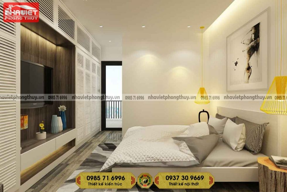 Mẫu thiết kế nội thất chung cư phòng ngủ hiện đại