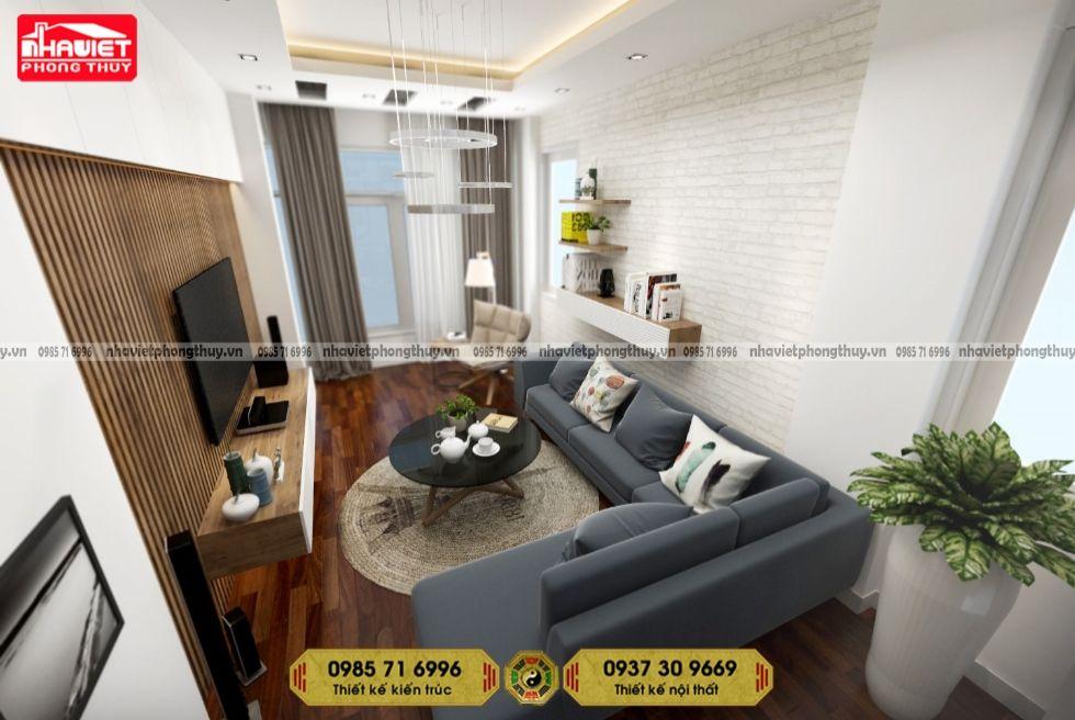 Mẫu thiết kế nội thất phòng khách chung cư hiện đại