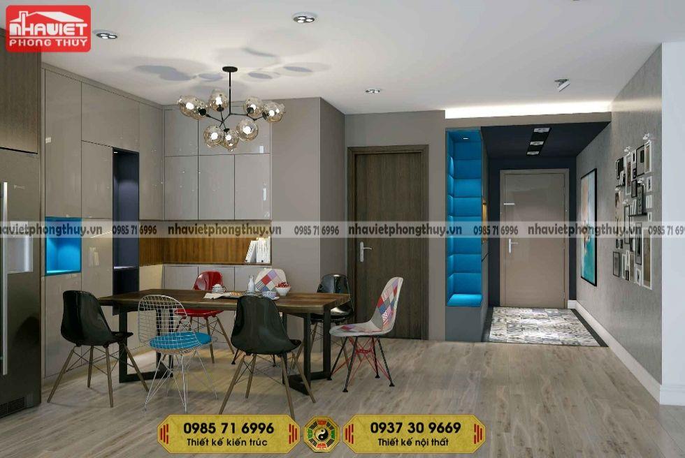 Mẫu thiết kế nội thất phòng bếp chung cư hiện đại
