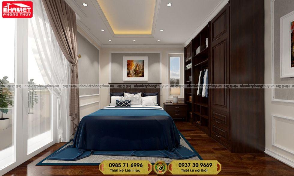 Mẫu thiết kế nội thất phòng ngủ chung cư tân cổ điển