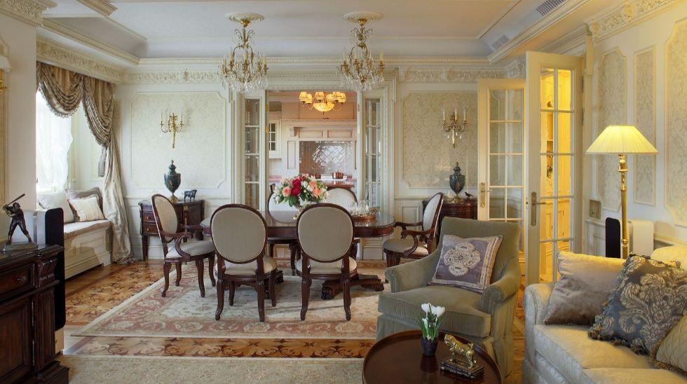 Mẫu thiết kế nội thất phòng khách chung cư tân cổ điển