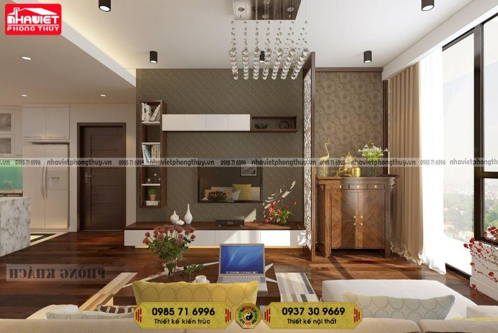 Thiết kế nội thất chung cư hiện đại 75m2 Sun Grand City 2 phòng ngủ