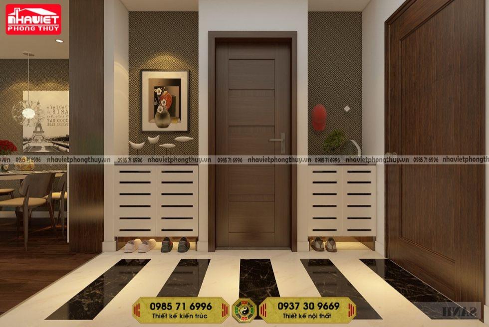 Thiết kế nội thất chung cư hiện đại 75m2 Sun Ancora 2 phòng ngủ