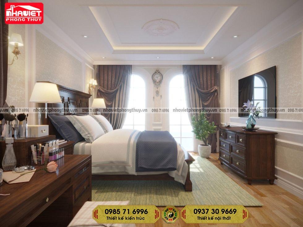 Thiết kế nội thất tân cổ điển 2 phòng ngủ Sun Grand City Ancora