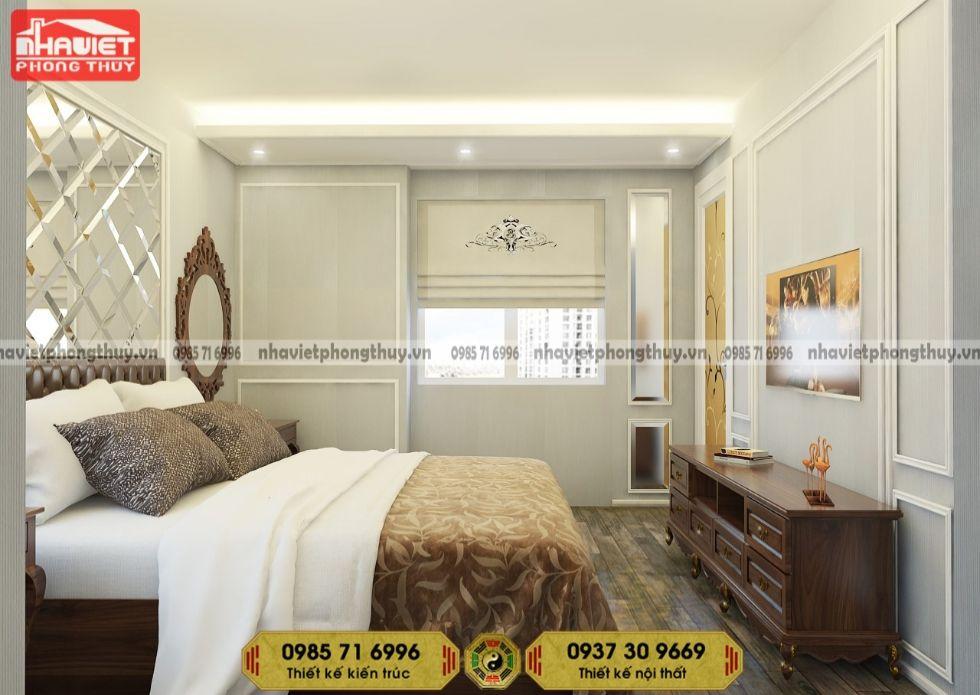 Công ty thiết kế nội thất chung cư tân cổ 2 phòng ngủ 90m2