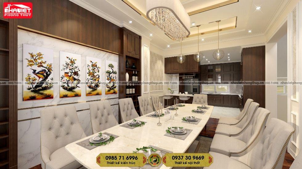 Dịch vụ thiết kế nội thất chung cư tân cổ 3 phòng ngủ 100m2