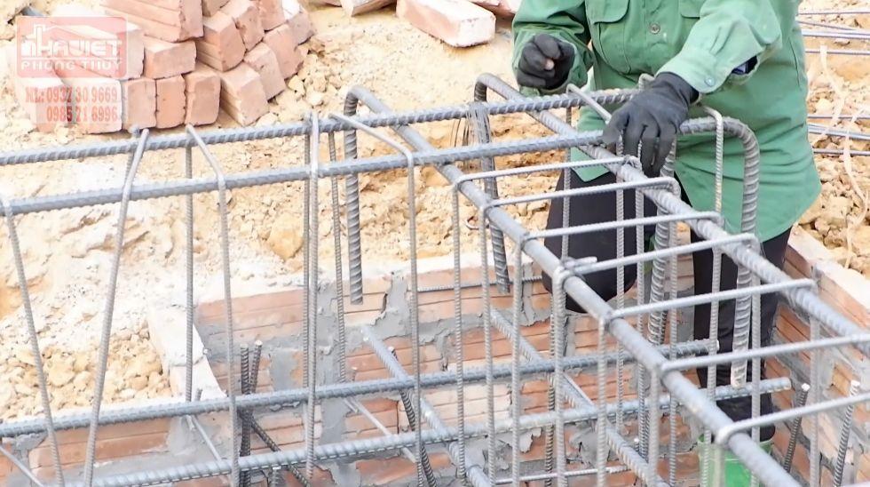 Nghiệm thu thép móng tại Ba Vì Hà Nội