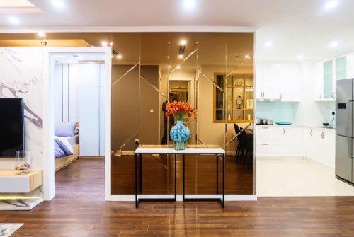 Thi công nội thất chung cư 70m2 phong cách hiện đại