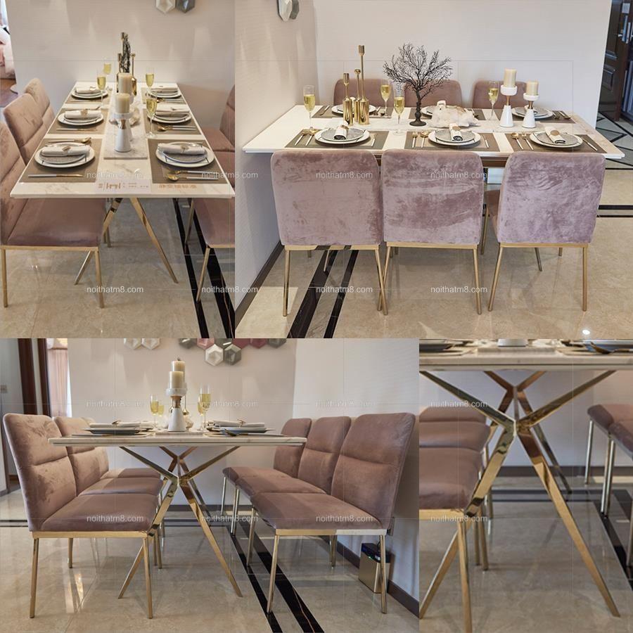 Mẫu bàn ăn mặt đá sang trọng đẳng cấp cho gia đình thân yêu của bạn
