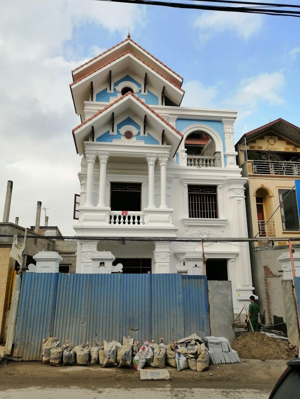 Thi công biệt thự tân cổ 4 tầng tại Hưng Yên