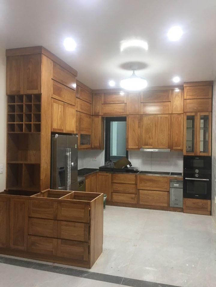 Mẫu tủ bếp gỗ nhiều người yêu thích